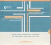 "Cover CD Mendelssohn  ""Reformationssymphonie"" - Grafik mit Kreuzmotiv"