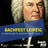 """Cover der CD """"Bachfest Leipzig"""" ausgewählte Höhepunkte 2016, Portrait von Johann Sebastian Bach in Öl"""