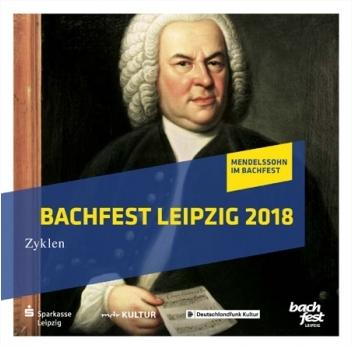 """Cover der CD """"Bachfest Leipzig"""" ausgewählte Höhepunkte 2018, Portrait von Johann Sebastian Bach in Öl"""
