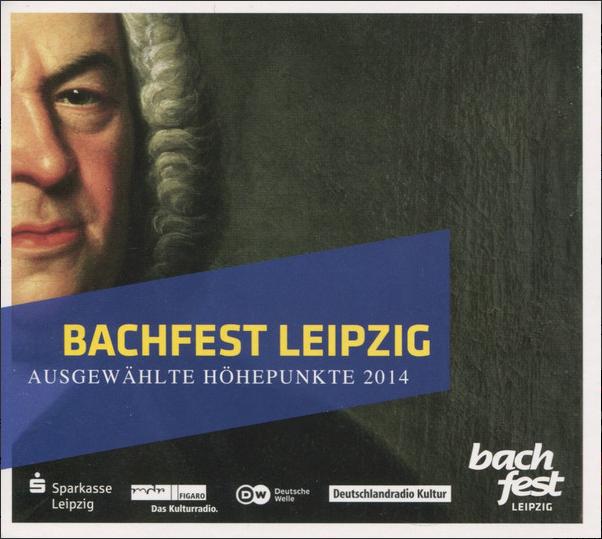 """Cover der CD """"Bachfest Leipzig"""" ausgewählte Höhepunkte 2014, Portrait von Johann Sebastian Bach in Öl"""